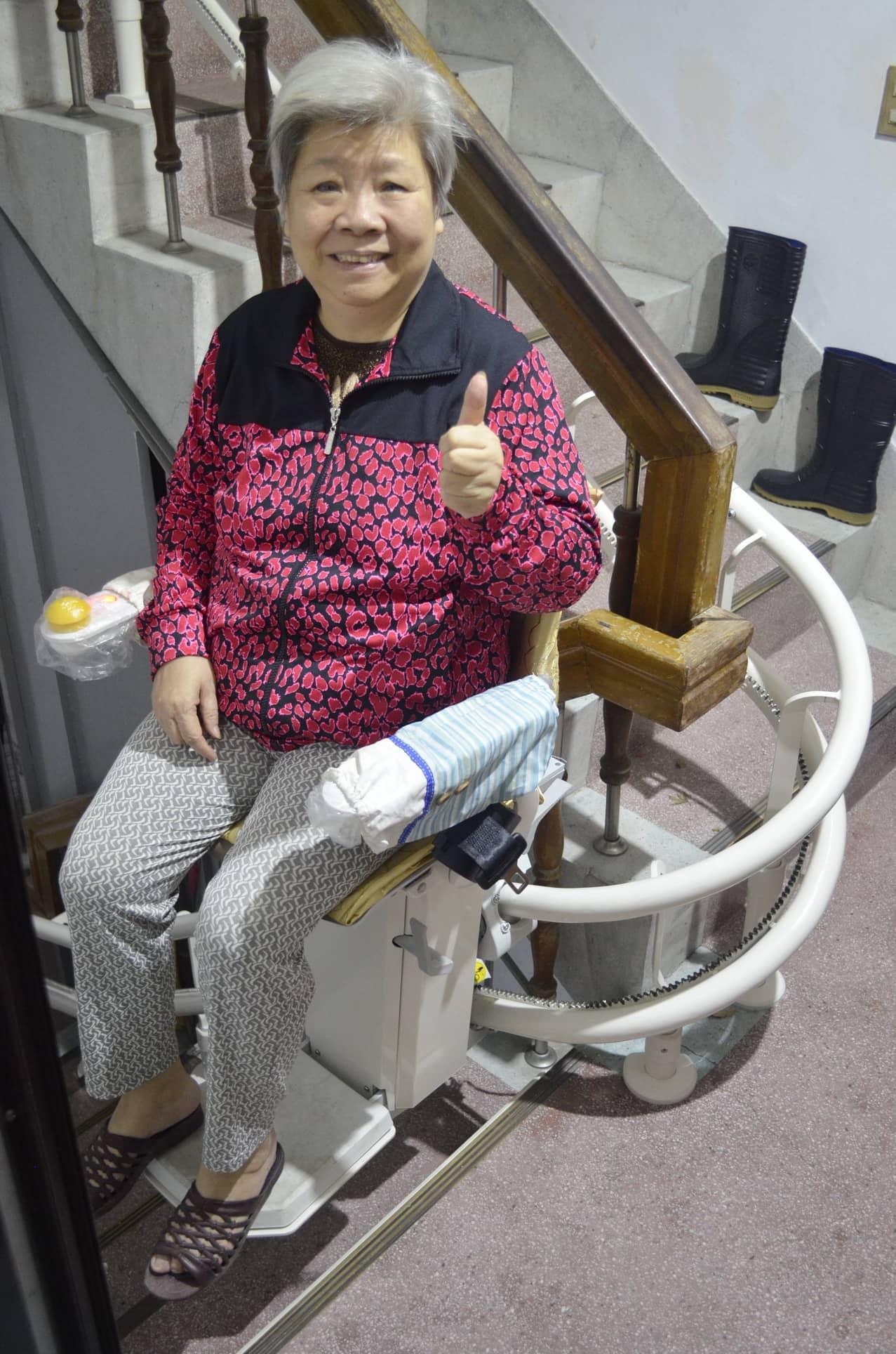 公寓升降椅安裝 - 新北市黃阿姨